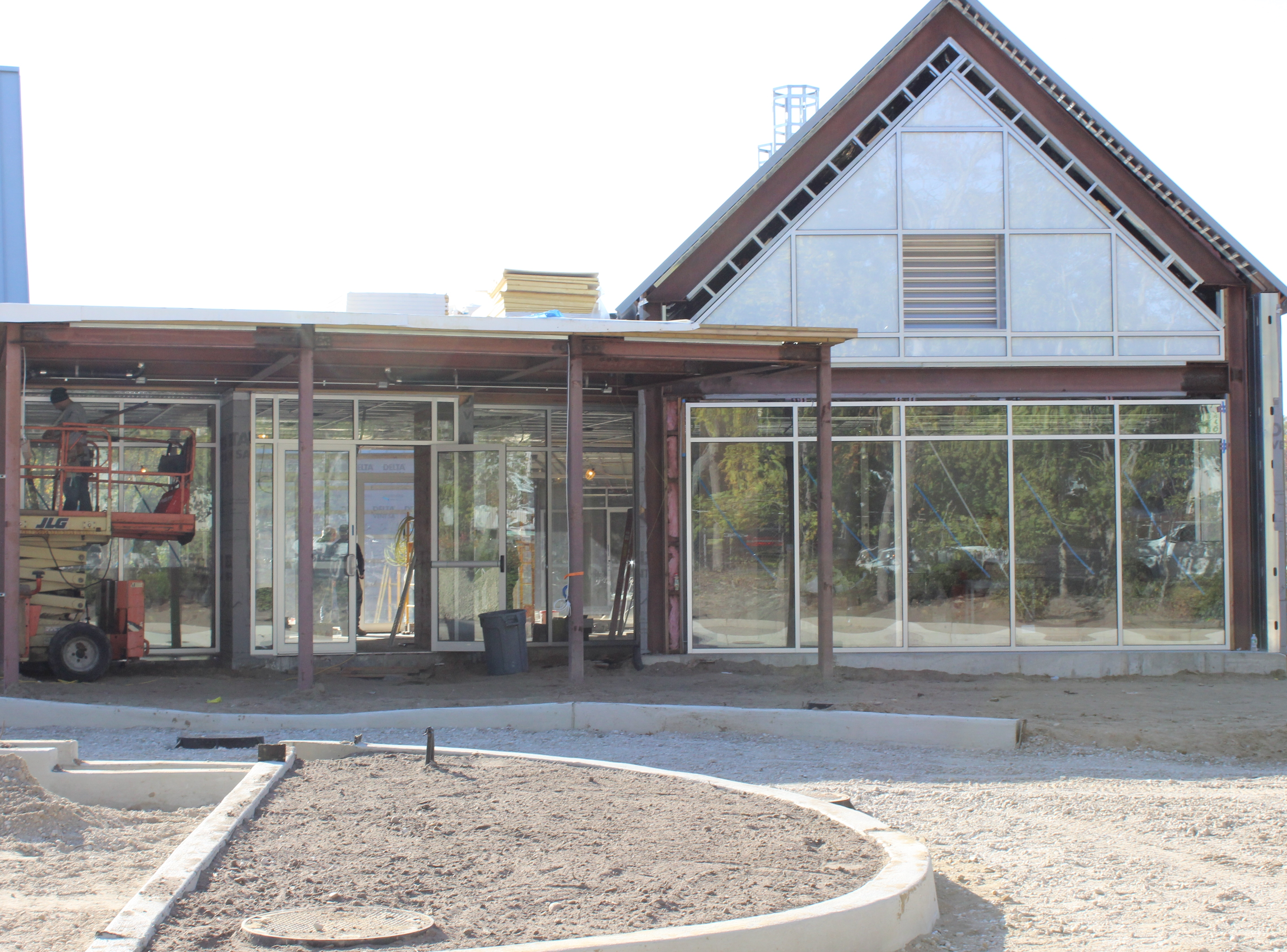 Glass installed at entrance