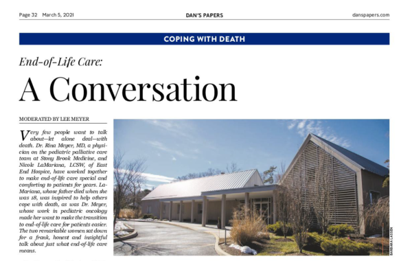 end of life care a conversation dan's papers page 1 crop